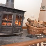 Log burner cottage Cornwall