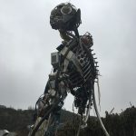 3.3-tonne structure which represents the amount of waste electrical and electronic equipment (WEEE) the average British household throws away in a lifetime